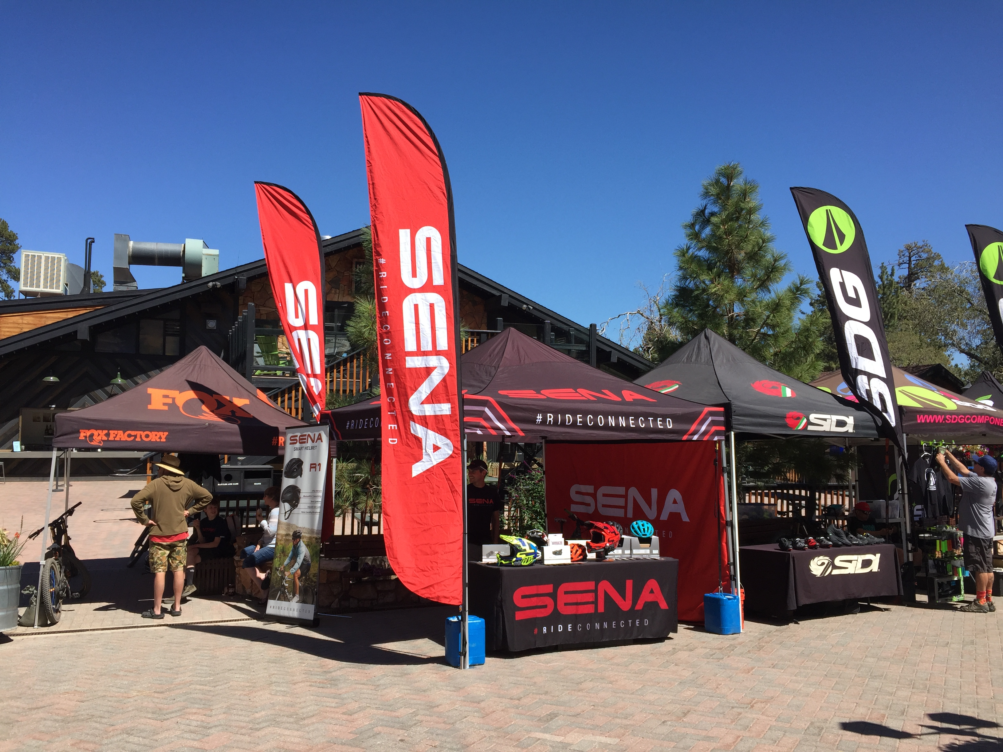 Sena's Booth at the Fox U.S. Open of Mountain Biking