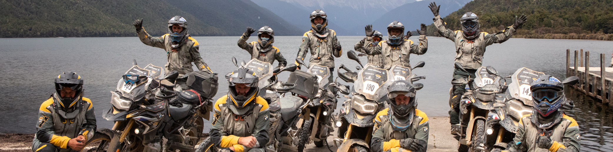 A group of riders at the BMW Int. GS Trophy 2020