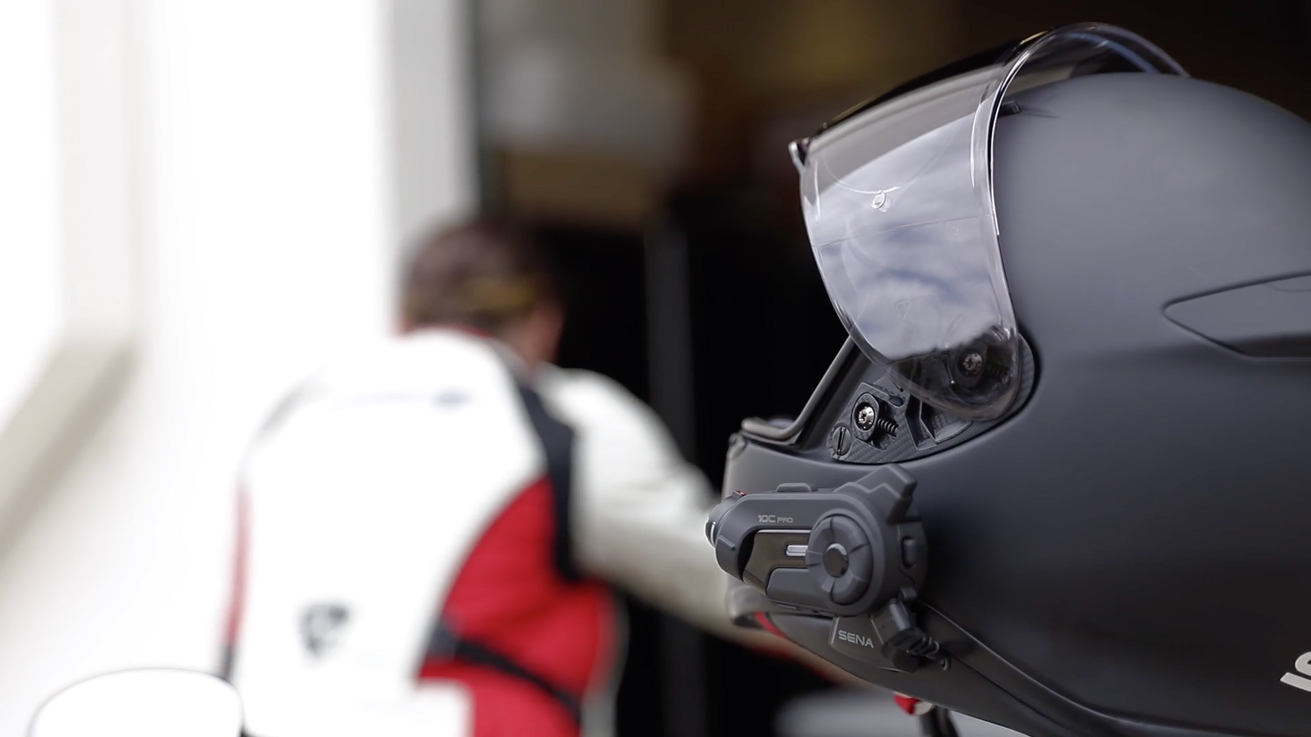 10C Pro attached to a helmet