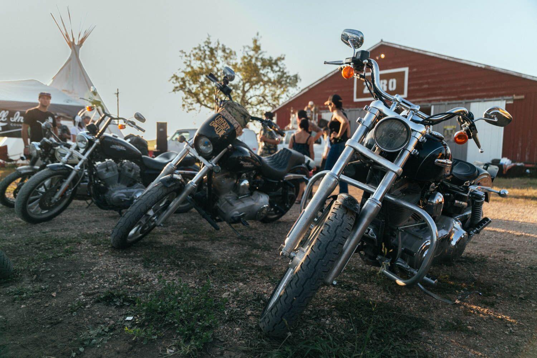 Camp Zero parked bikes