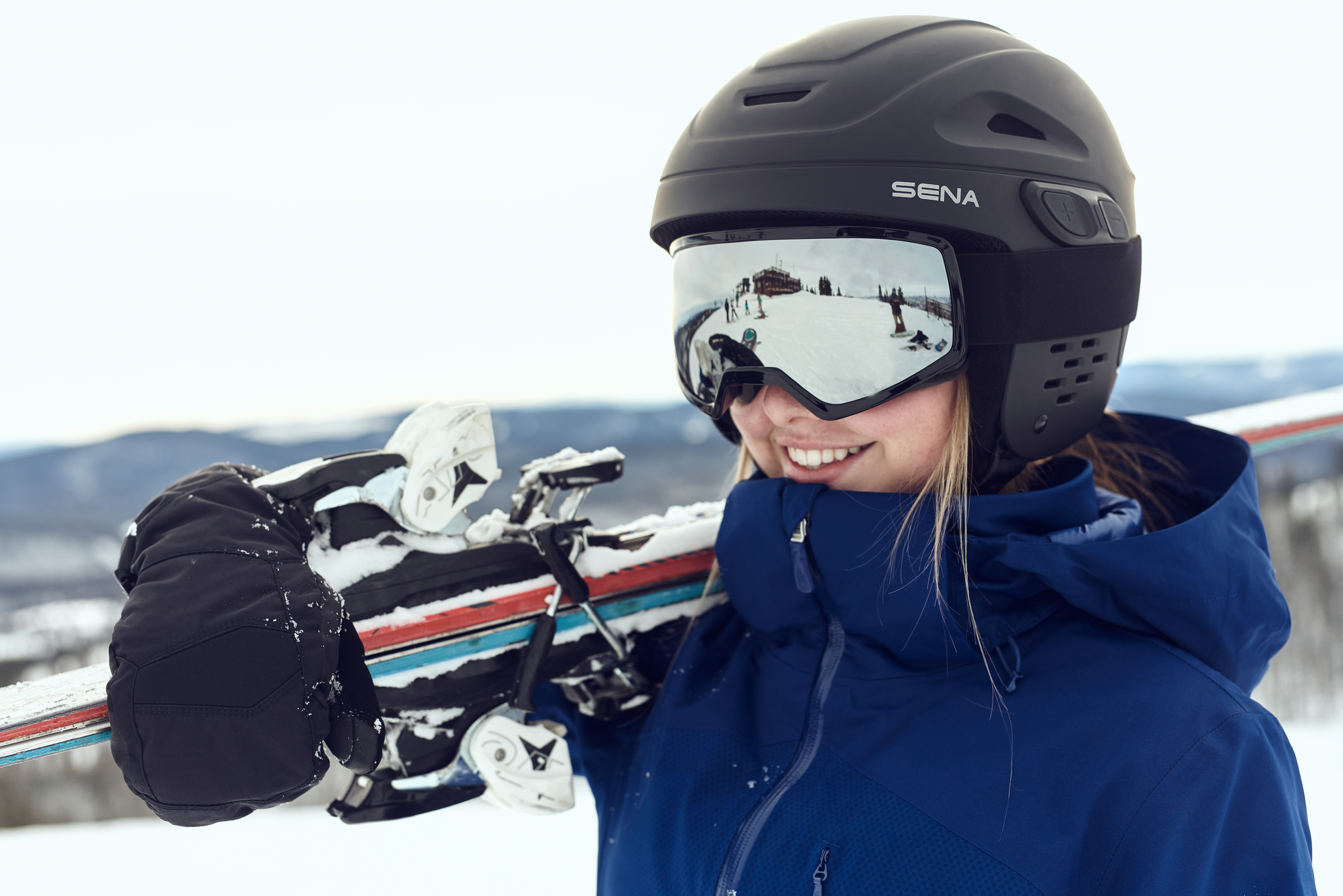 Skier wearing the Latitude SR