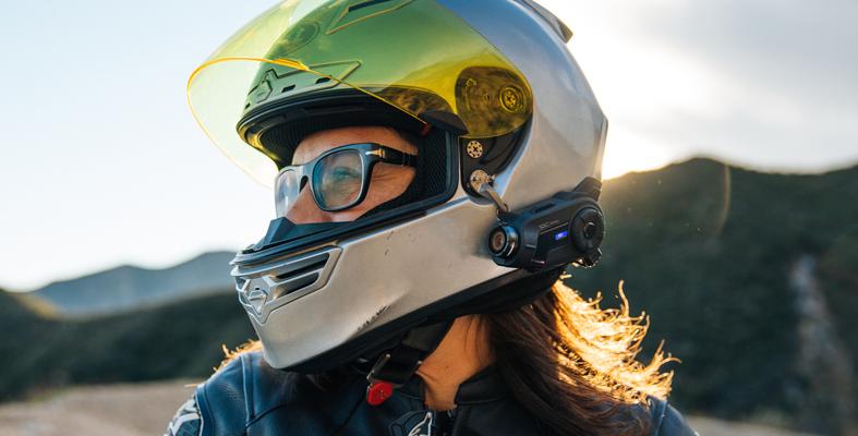10C Pro on Helmet