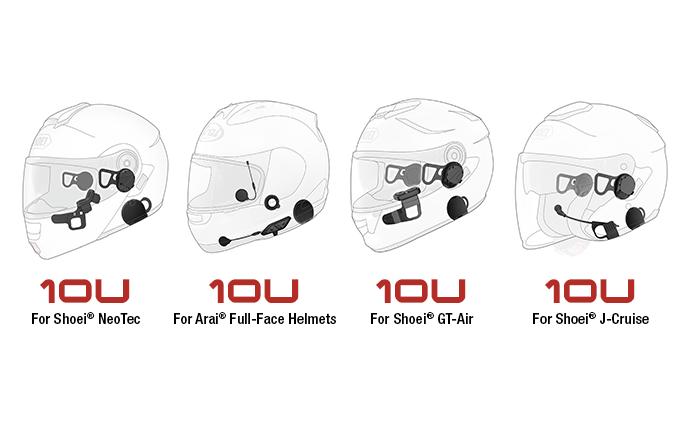 10U motorcycle Bluetooth communication system
