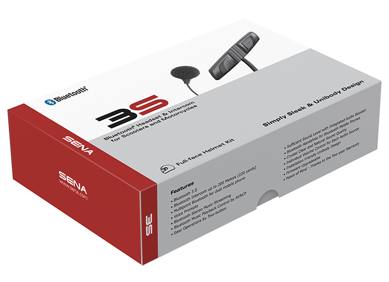 3S Bluetooth Headset & Intercom - Wired Microphone Kit