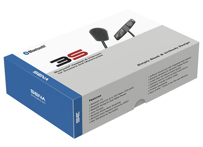 3S Bluetooth Headset & Intercom - Wired Boom Microphone Kit
