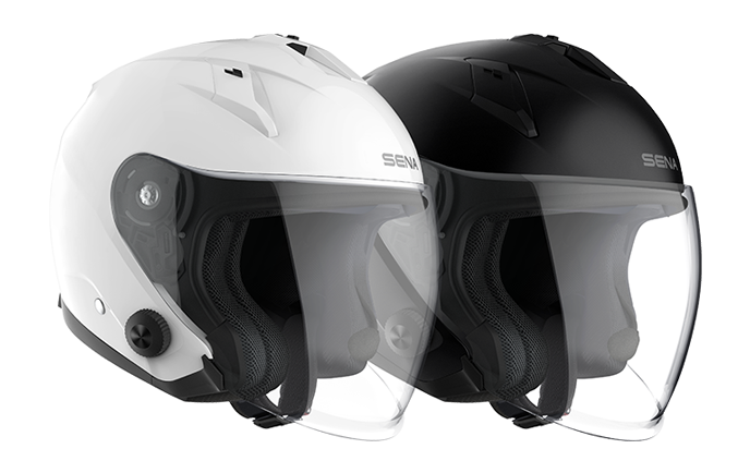 Econo Open Face Helmet - Black and White