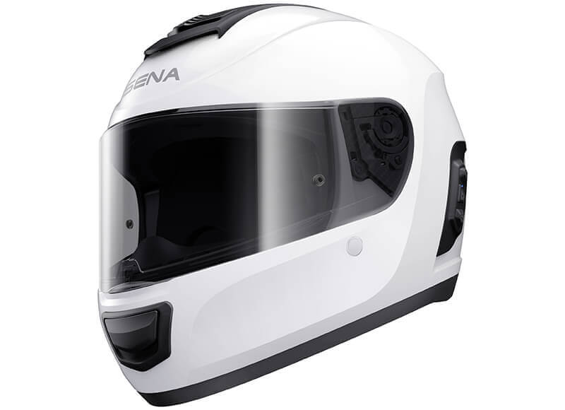 Momentum Bluetooth Full Face Helmet White