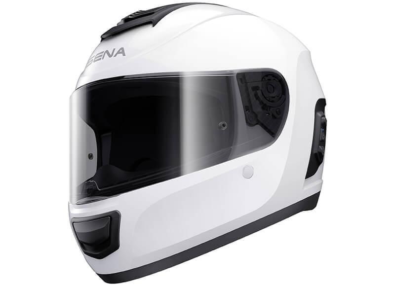 Momentum Bluetooth Full Face Helmet White