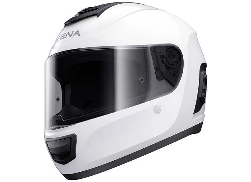Momentum Lite Full-Face Bluetooth Smart Helmet White