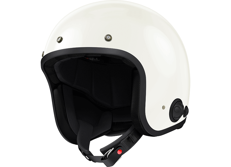 Savage White Open Face Motorcycle Bluetooth Helmet