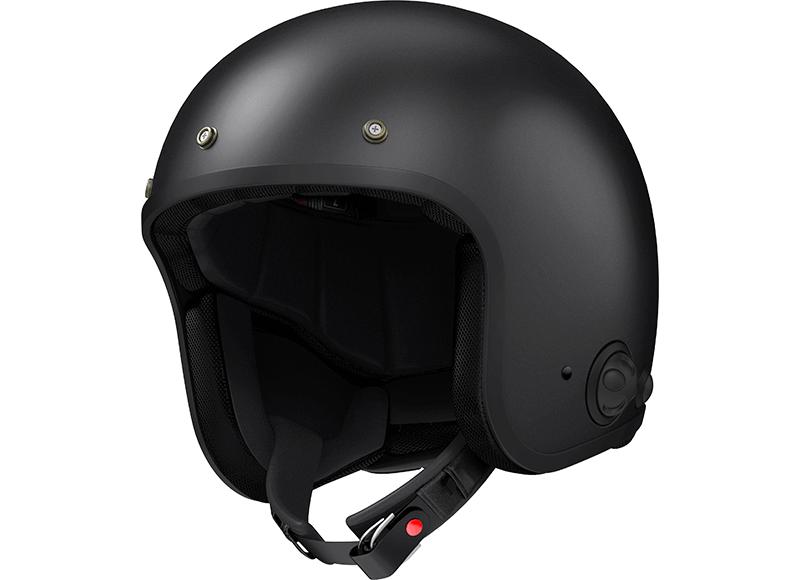 Savage Black Open Face Motorcycle Bluetooth Helmet