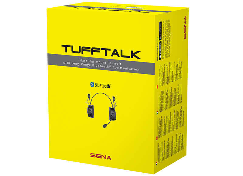 Tufftalk Industrial Hard Hat Earmuff Long-Range Bluetooth